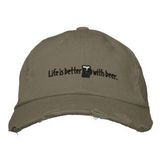 Das Leben ist mit beer™ Chinohut besser Bestickte Kappe
