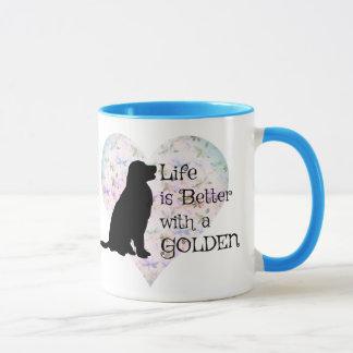 Das Leben ist mit einem golden retriever besser Tasse