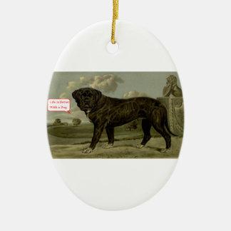 Das Leben ist mit einem Hund besser Keramik Ornament