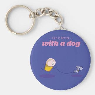Das Leben ist mit einem Hund besser Schlüsselanhänger