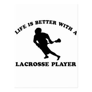 Das Leben ist mit einem Lacrosse-Spieler besser Postkarte