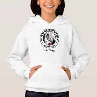 Das Leben ist mit einem Lhasa personalisierter Hoodie