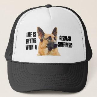 Das Leben ist mit einem Schäferhund besser Truckerkappe