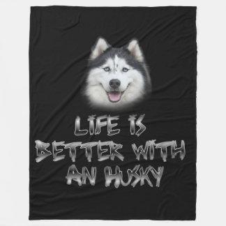 Das Leben ist mit einem Schlittenhund besser Fleecedecke