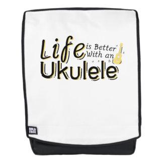 Das Leben ist mit einem Ukulele Uke Musikfreund Rucksack