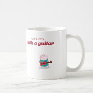 das Leben ist mit einer Gitarre besser Kaffeetasse