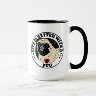Das Leben ist mit einer Mops-Hundezucht besser Tasse