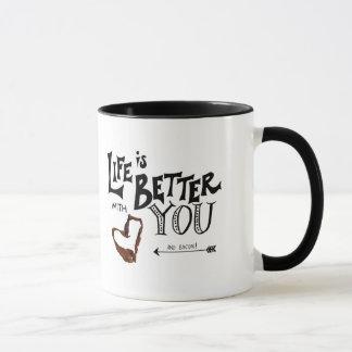 Das Leben ist mit Ihnen UND SPECK besser! Tasse