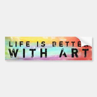 Das Leben ist mit Kunst besser Autoaufkleber