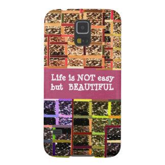 Das Leben ist schön:  Editable Text. DIY Schablone Samsung S5 Cover