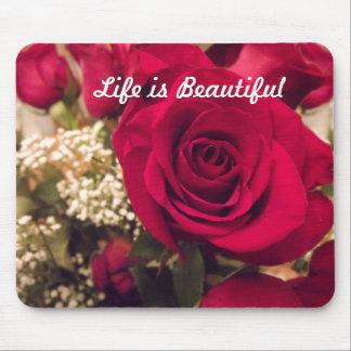 Das Leben ist schöne Rosen-Mausunterlage Mauspads