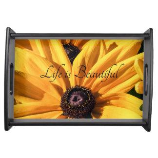 Das Leben ist schönes schwarzes mit Augen Tablett