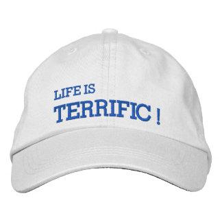 Das Leben ist SCHRECKLICH! Gestickter Hut