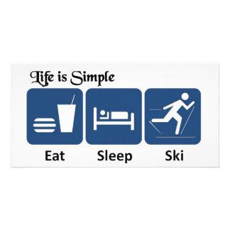 Das Leben ist, Ski einfach Individuelle Photo Karte