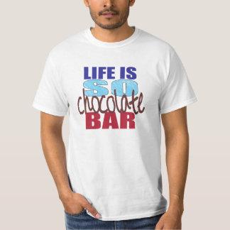 Das Leben ist SO Schokoladen-Bar-T-Stück T-Shirt