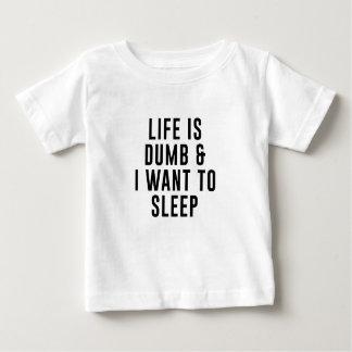 Das Leben ist stumm Baby T-shirt