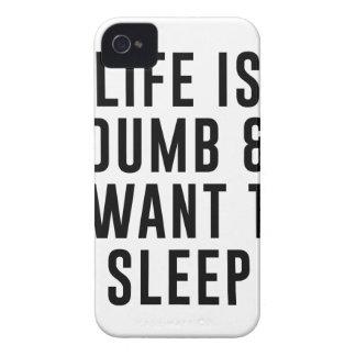 Das Leben ist stumm iPhone 4 Hülle