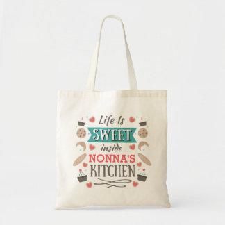 Das Leben ist süßen inneren Nonnas Küche Tragetasche