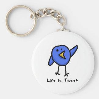 """""""Das Leben ist tweeten"""" Keychain Standard Runder Schlüsselanhänger"""