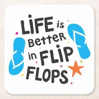 Das Leben ist umdrehen herein Reinfälle besser Rechteckiger Pappuntersetzer