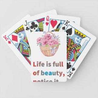 Das Leben ist von der Schönheit voll Bicycle Spielkarten