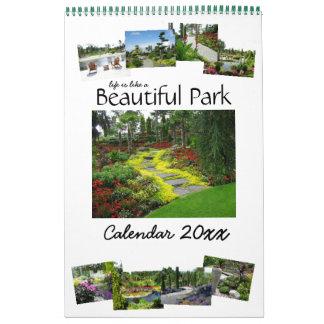 Das Leben ist wie ein schöner Park-Kalender 20XX Abreißkalender