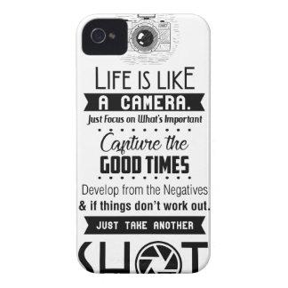 Das Leben ist wie eine Kamera Case-Mate iPhone 4 Hülle