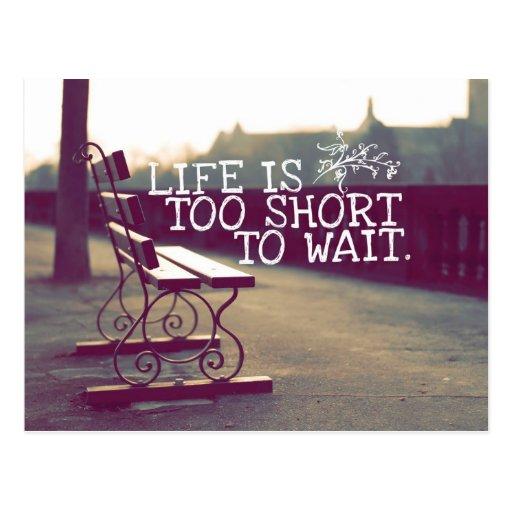 Das Leben ist zu kurzes | motivierend Zitat Postkarten