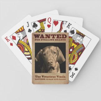 Das lebhafte Vizsla Spielkarten