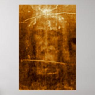 Das Leichentuch heiligen Gesichtes Turins von Poster