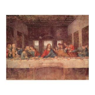 Das letzte Abendessen durch Leonardo da Vinci, Holzwanddeko