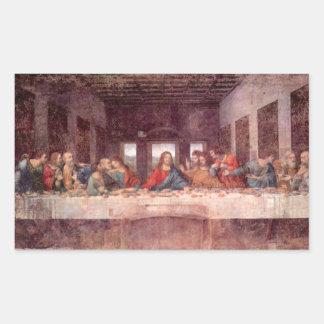 Das letzte Abendessen durch Leonardo da Vinci, Rechteckiger Aufkleber