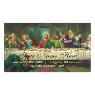 Das letzte Abendessen durch Leonardo da Vinci Visitenkarten