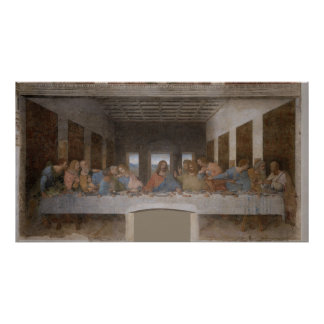 Das letzte Abendessen Última Cena durch Leonardo d Poster