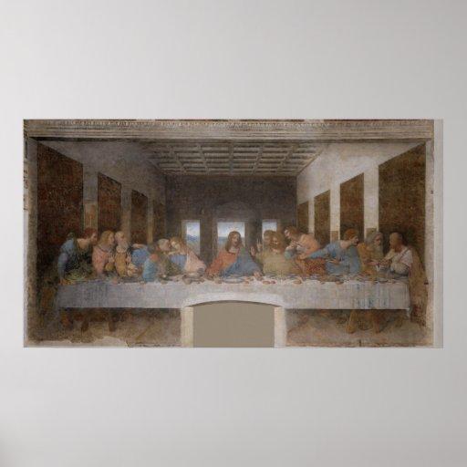 Das letzte Abendessen Última Cena durch Leonardo d Plakatdruck