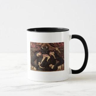 Das letzte Urteil, Detail von Satan Verschlingen Tasse