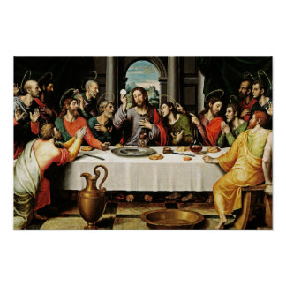 Das letztes Abendessen-heilige Abendmahl - La Poster