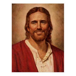 Das liebevolle Lächeln des Jesus Christus Postkarte