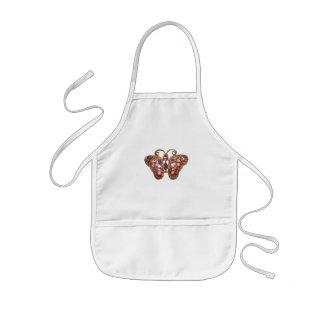 Das lila Juwel-Schein-Schmetterlings-Rosa fertigen Kinderschürze