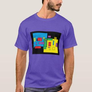 Das lila T-Stück großer 'Männer n GROSSER durch T-Shirt