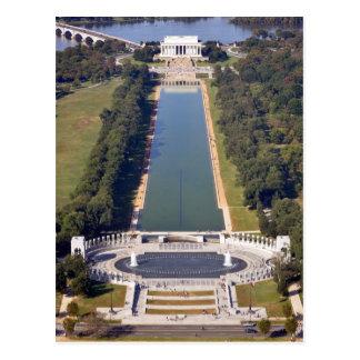 Das Lincoln Memorial und das Weltkrieg-Denkmal Postkarte