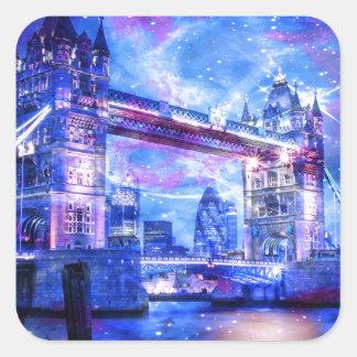 Das London-Träume des Liebhabers Quadratischer Aufkleber