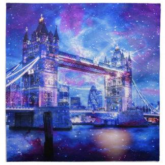 Das London-Träume des Liebhabers Stoffserviette