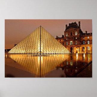 Das Louvre, Paris-Plakat Poster