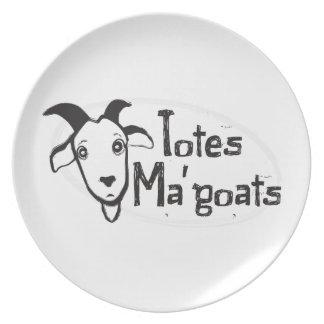 Das Ma der Tasche Ziegen Party Teller