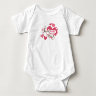 Das Mädchen-Baby-Jersey-Bodysuit des Vatis Baby Strampler