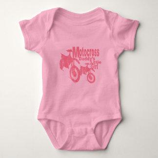 Das Mädchen des Motocross-Vatis Baby Strampler