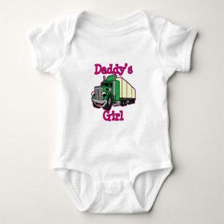 Das Mädchen-LKW-Fahrer des Vatis Baby Strampler
