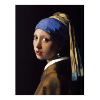 Das Mädchen mit dem Perlen-Ohrring durch Vermeer Postkarte