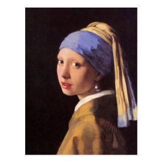 Das Mädchen mit dem Perlenohrring durch Vermeer Postkarte
